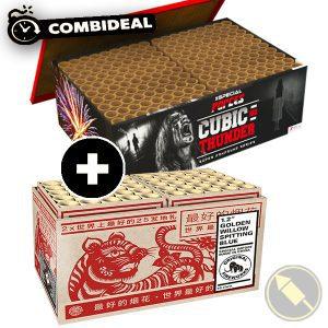 """Combideal! Cubic Thunder en de 1.2""""Golden Willow Spitting Blue! Nu samen tegen een knalprijs!"""