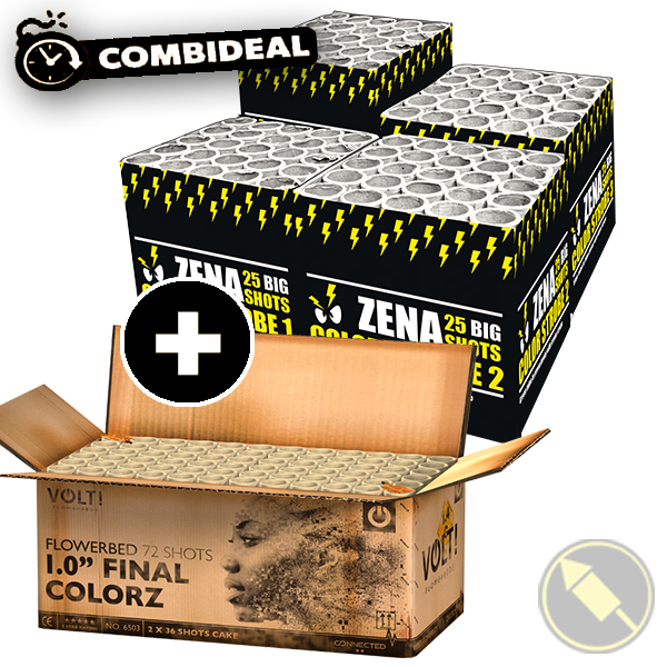 "Combideal: Zena Color Strobe Series & 1.0"" Final Colorz"
